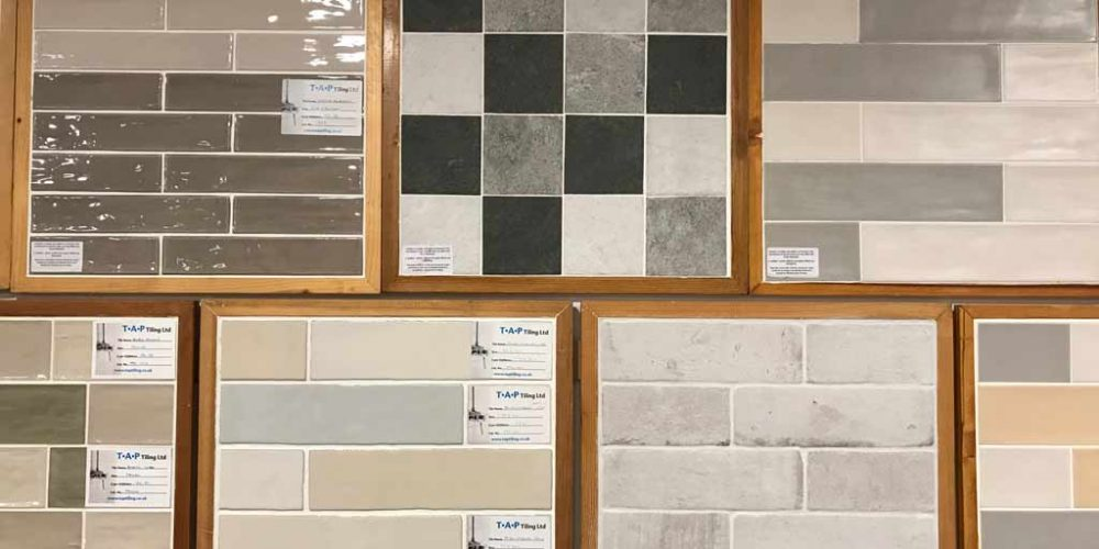 display of tile samples